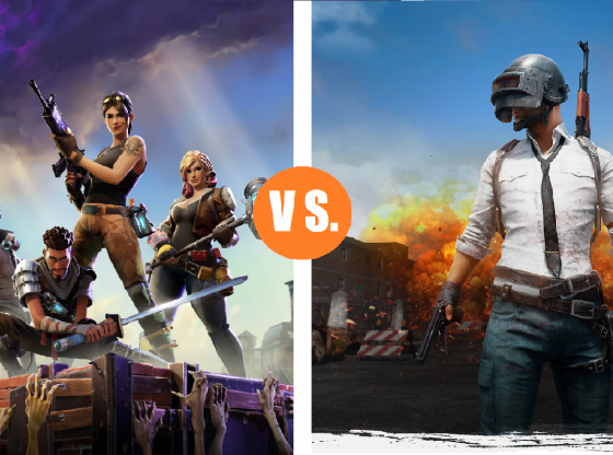 fORTNITE VS PUGB